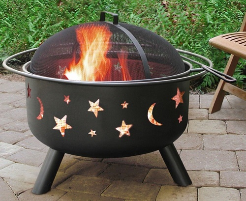 Big Sky Stars & Moons Steel Fire Pit