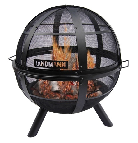 Ball of Fire Steel Fire Pit Black Cover Included