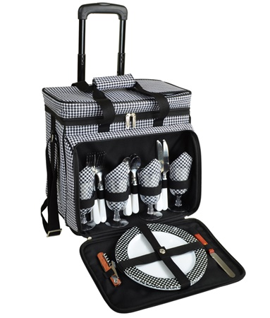 Two Bottle Wheeled Picnic Cooler