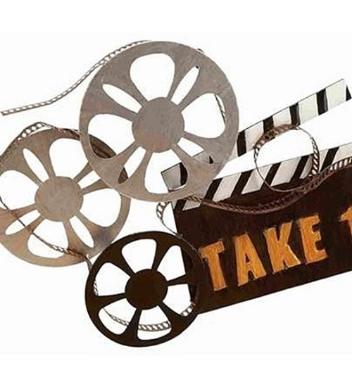 Take One Metal Movie Reel Wall Decor