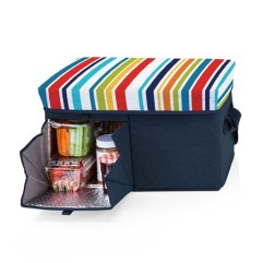 Ottoman Padded Seat Lid 24 Can Cooler Tote