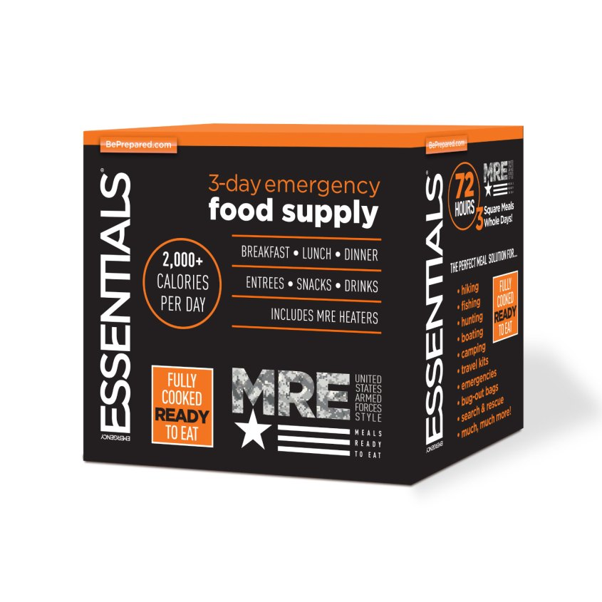 3-Day MRE Emergency Food Supply w/ Packaging