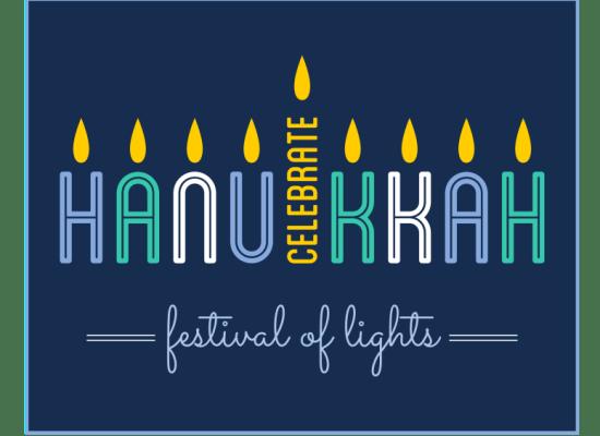 hanukkah spelled out menorah