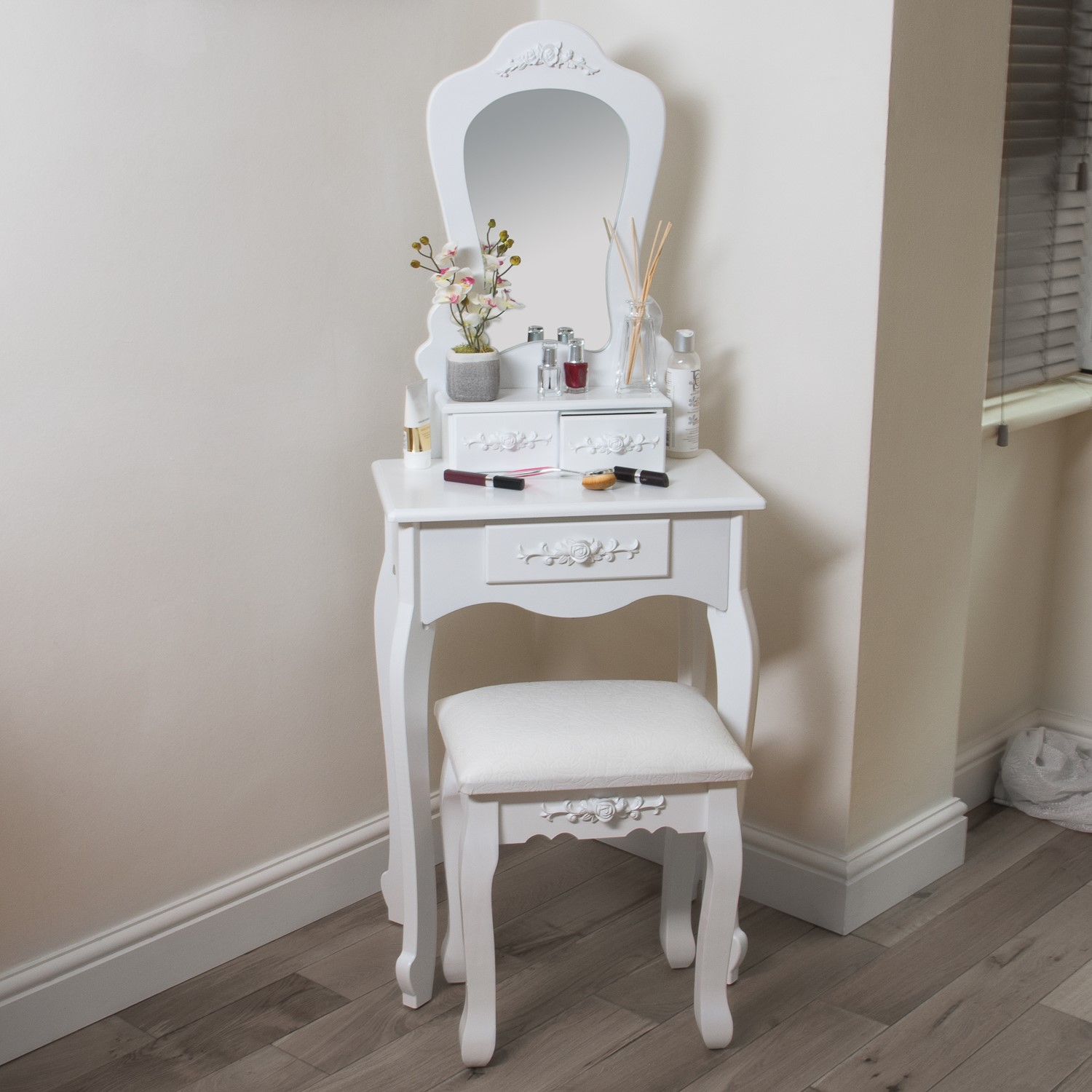 White Dressing Table Mirror White Dressing Table Stool With Mirror 3 Drawers Home