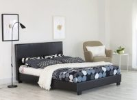 Home Treats Black Faux Leather Bed Frames Bedroom ...
