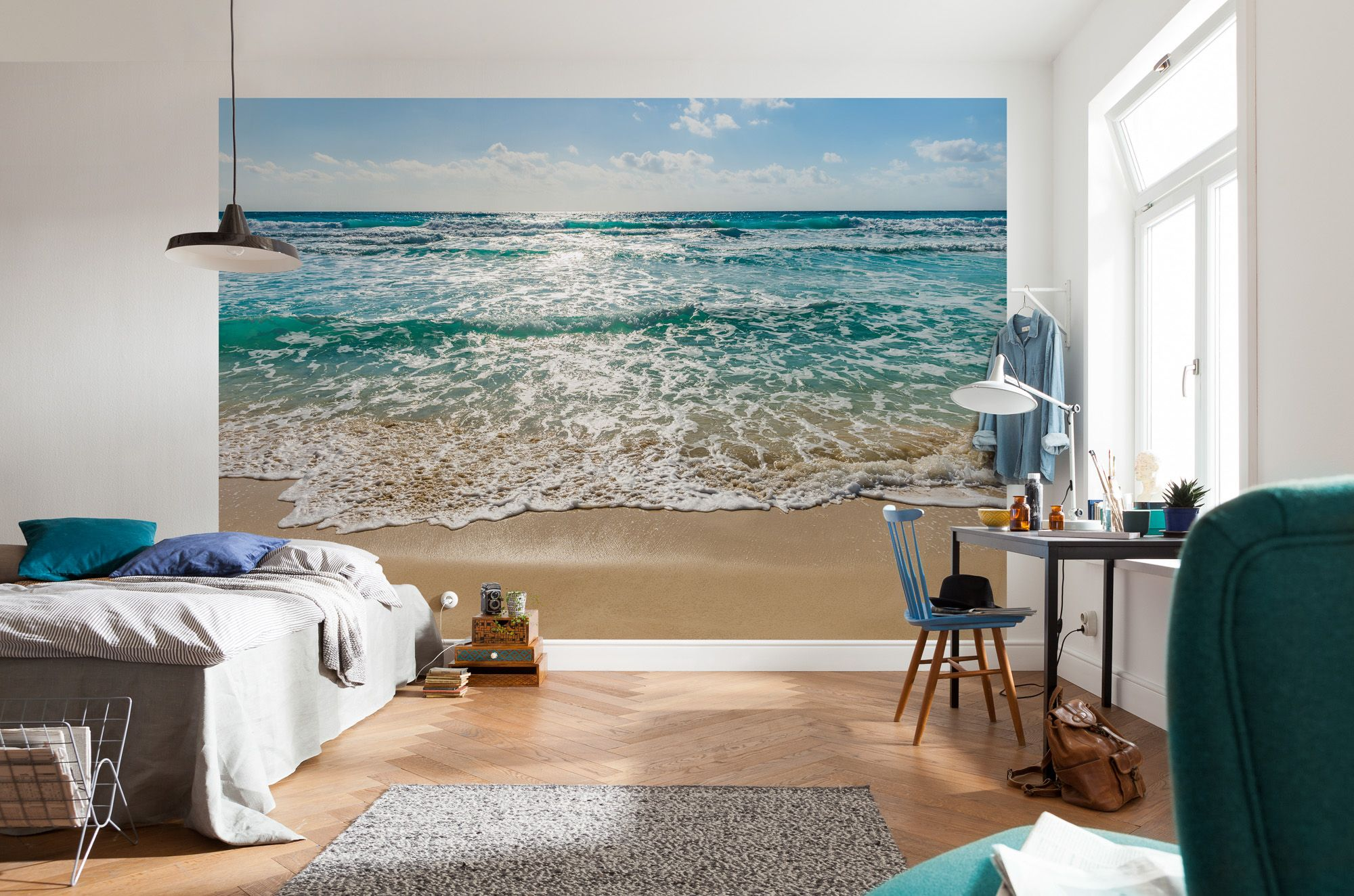 Bildtapeten Schlafzimmer Seaside Beach Scene Paper Wallpaper Homewallmurals