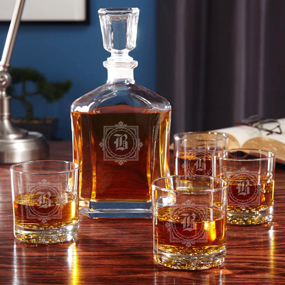 Whiskey Set Winchester Personalized Whiskey Decanter Set
