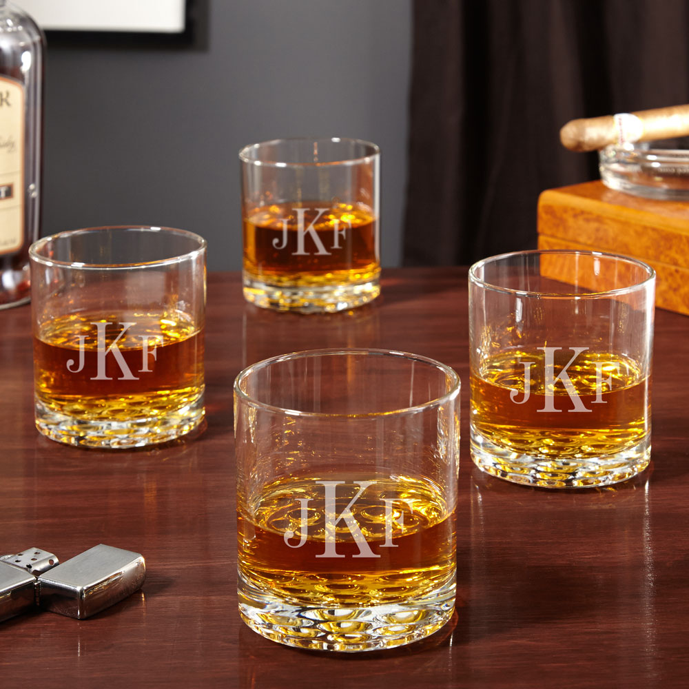 Wisky Glas Buckman Classic Monogram Whiskey Glasses Set Of 4