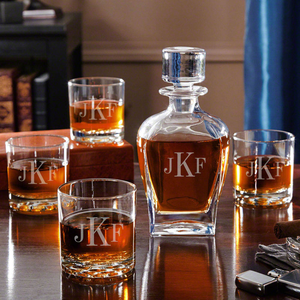 Whiskey Set Draper Liquor Decanter Set With Whiskey Glasses
