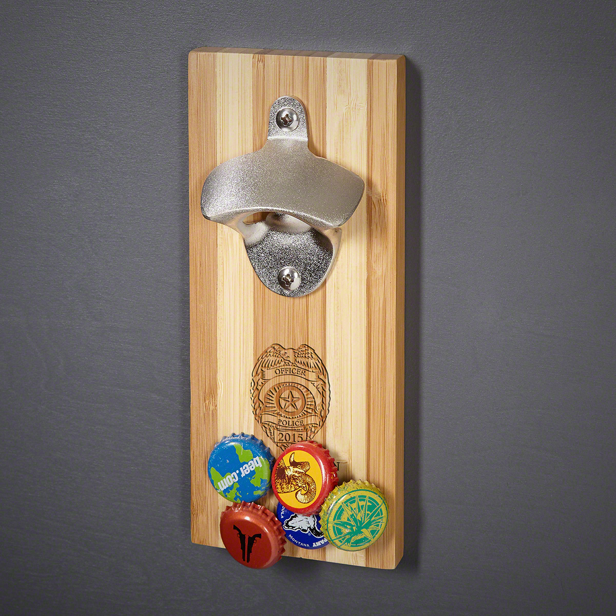 Wall Mounted Wine Openers Police Badge Custom Magnetic Wall Mount Bottle Opener