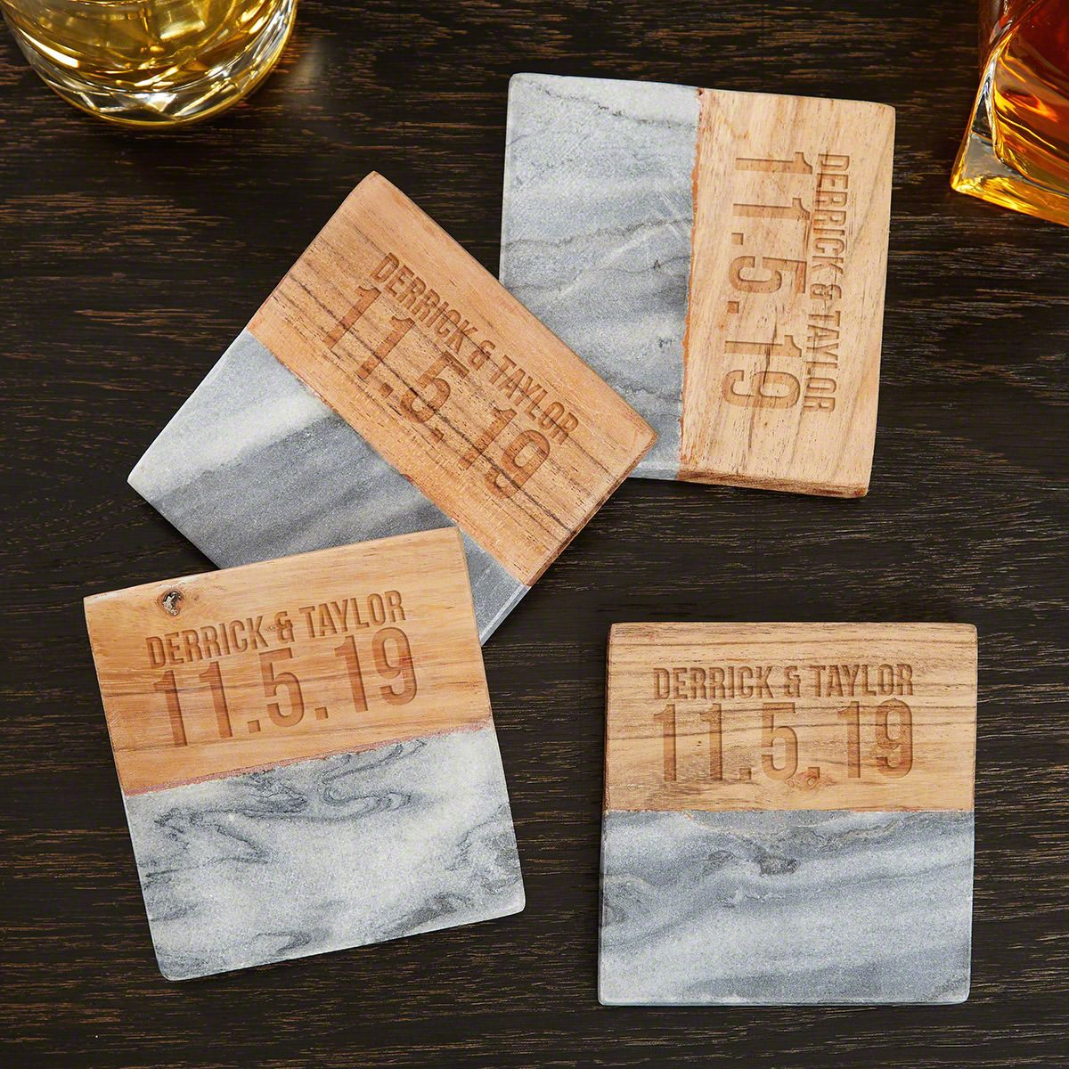Housewarming Gifts For Young Couples Better Together Custom Coasters Gift For Couples