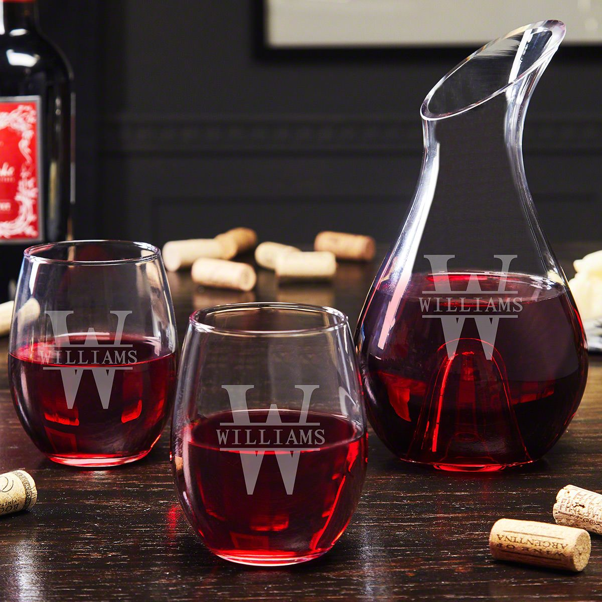 Decanter Wine Glas Oakmont Personalized Wine Decanter And Glasses Gift For Wine Lovers