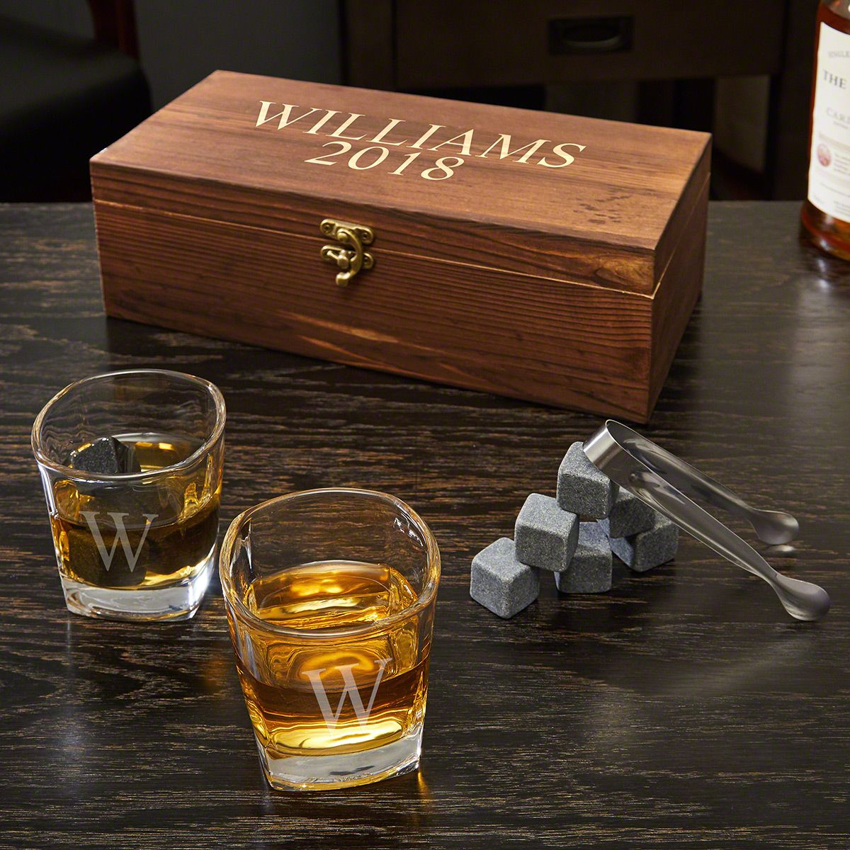Wisky Glas Schaefer Personalized Whiskey Stones And 6 Oz Shot Glasses Gift Set