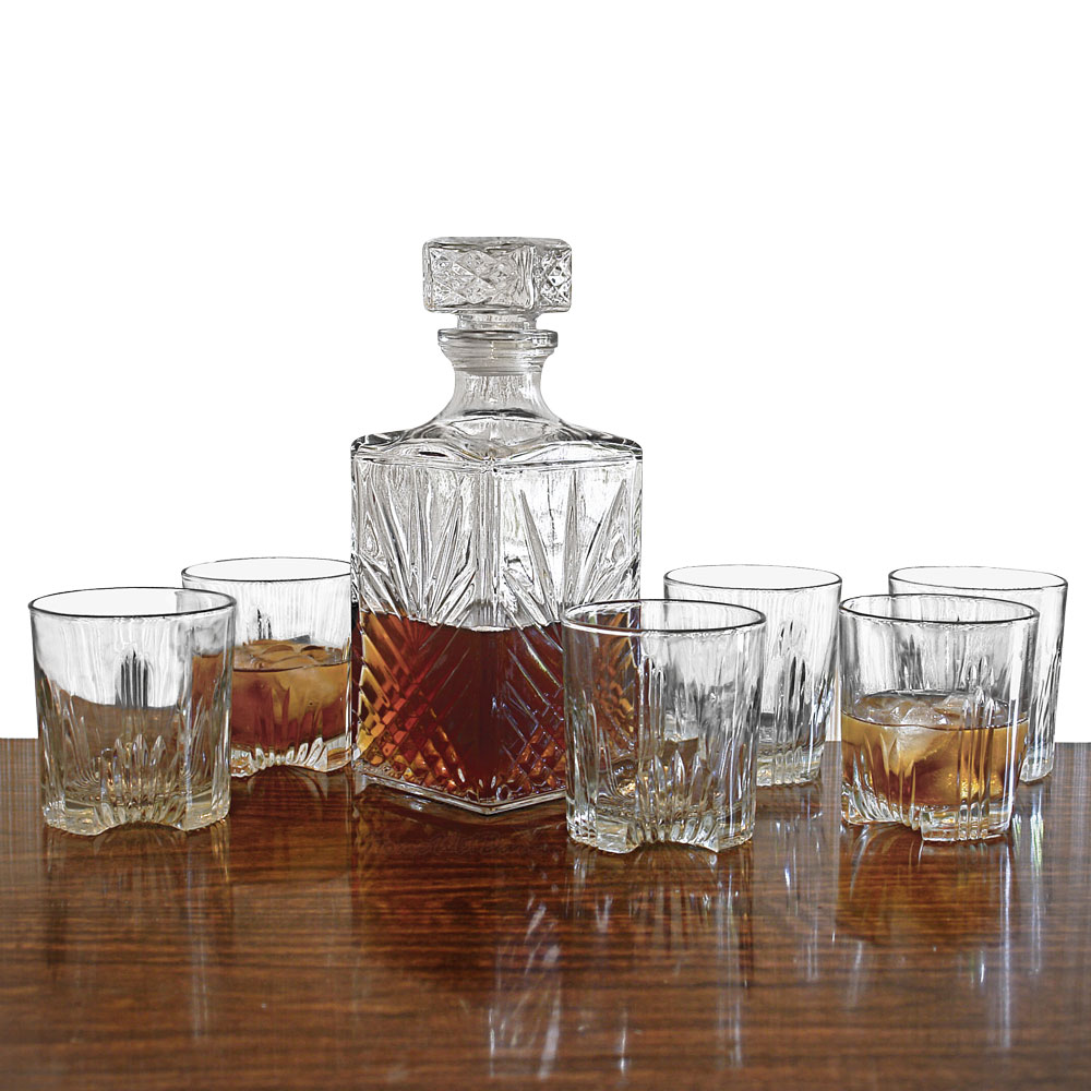 Whiskey Set Sparta Whiskey Decanter And Glasses 7 Piece Set