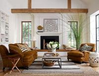 Modern living room with rustic accents. Several proposals ...