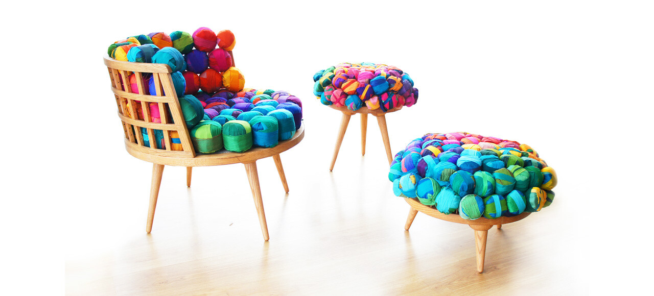 Wood Eettafel Eco Furniture From Recycled Silk Remnants, By Meb Rure
