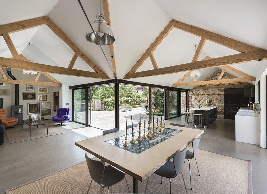 barn conversion with contemporary interiors