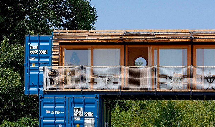 Wohnhaus Aus Containern Small Mobile Hotel Made From Shipping Containers / Artikul