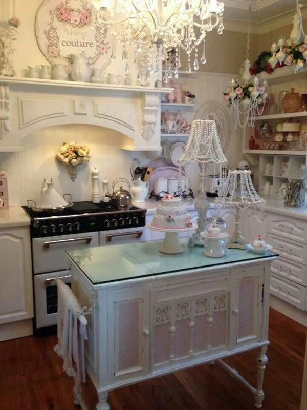 Ikea Ilot Central De Cuisine 50 Sweet Shabby Chic Kitchen Ideas 2018
