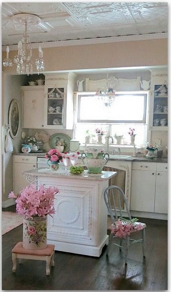 Rustic White Kitchen Island 50 Sweet Shabby Chic Kitchen Ideas 2018