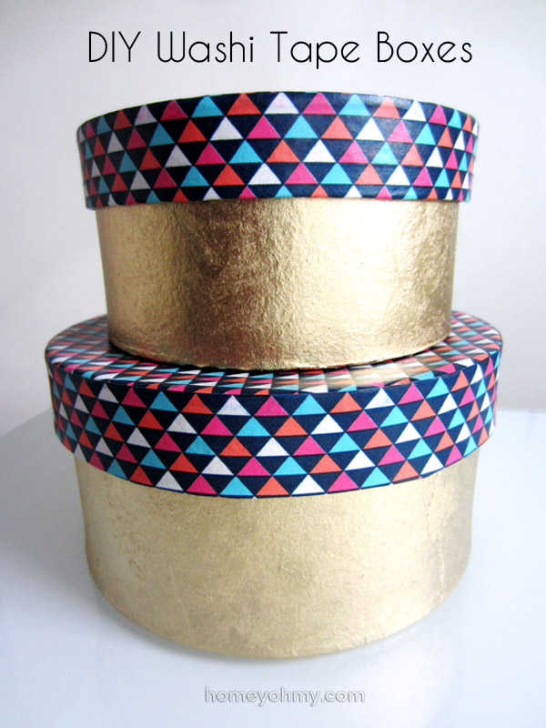 Washi Tape Diy Diy Washi Tape Boxes - Homey Oh My