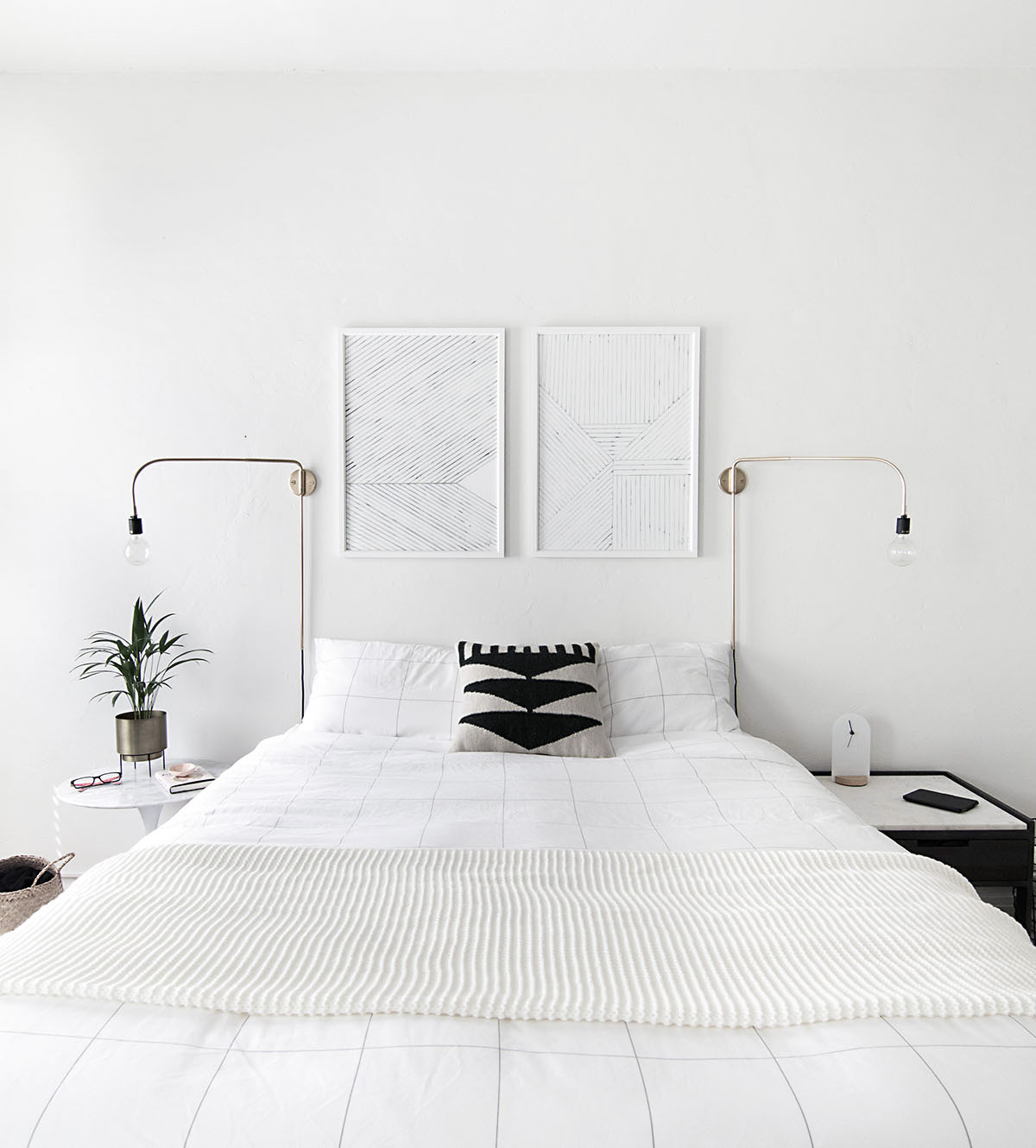 Minimal Bed How To Achieve A Minimal Scandinavian Bedroom Homey Oh My