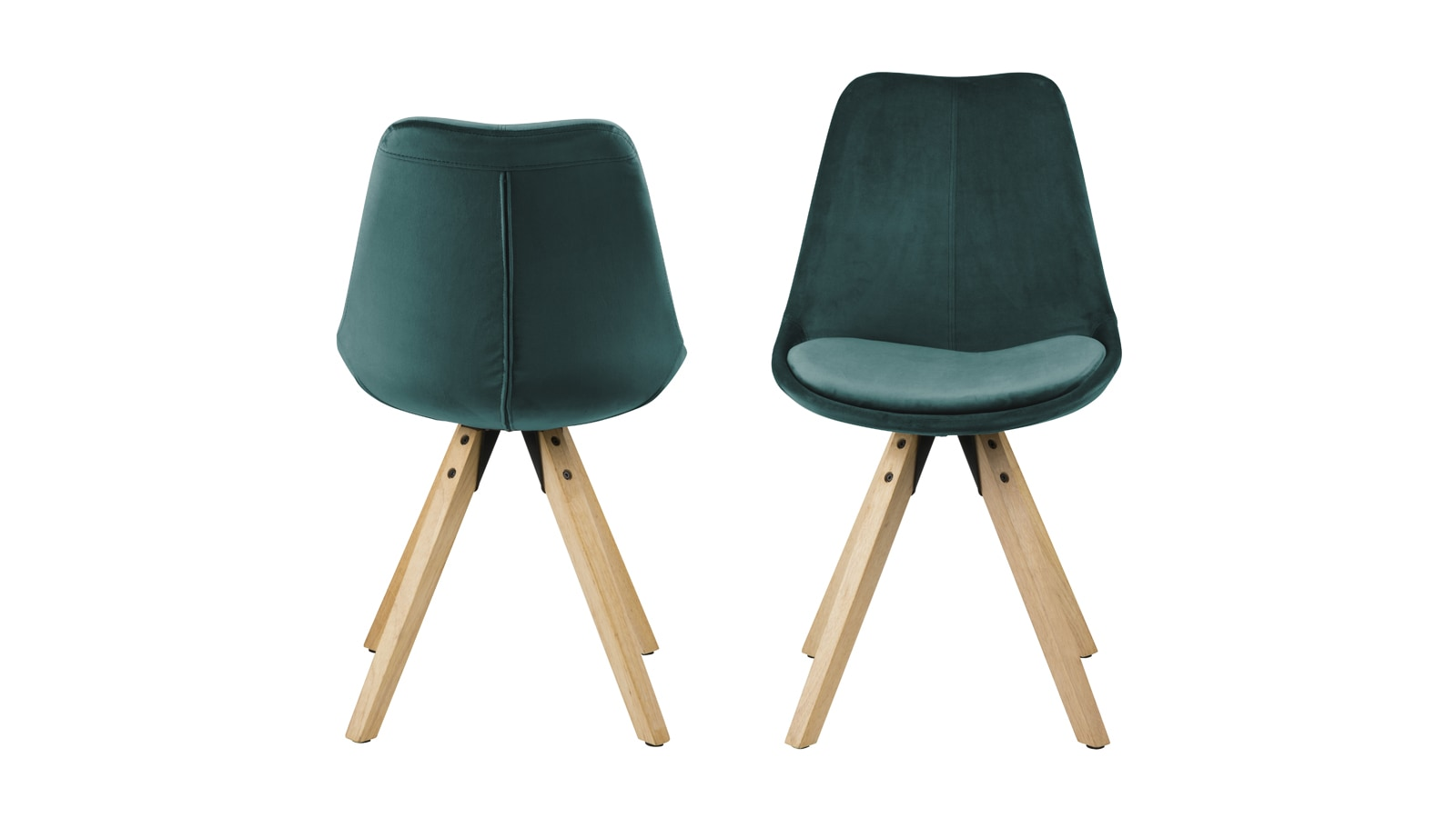 Lot De 2 Tabourets De Bar Wave à Mémoire De Forme Lot De 2 Chaises En Velours Vert Bouteille Collection Dima Homifab