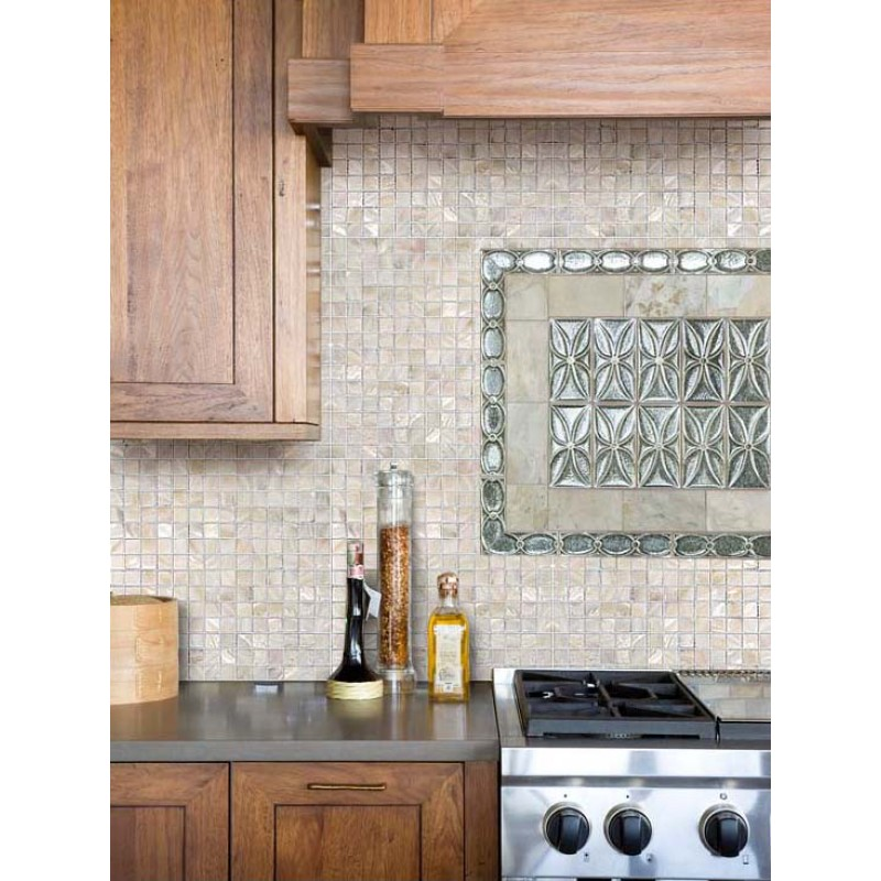 pearl tile kitchen backsplash ideas square shell mosaic tiles mosaic tile backsplash kitchen ideas pictures home design ideas