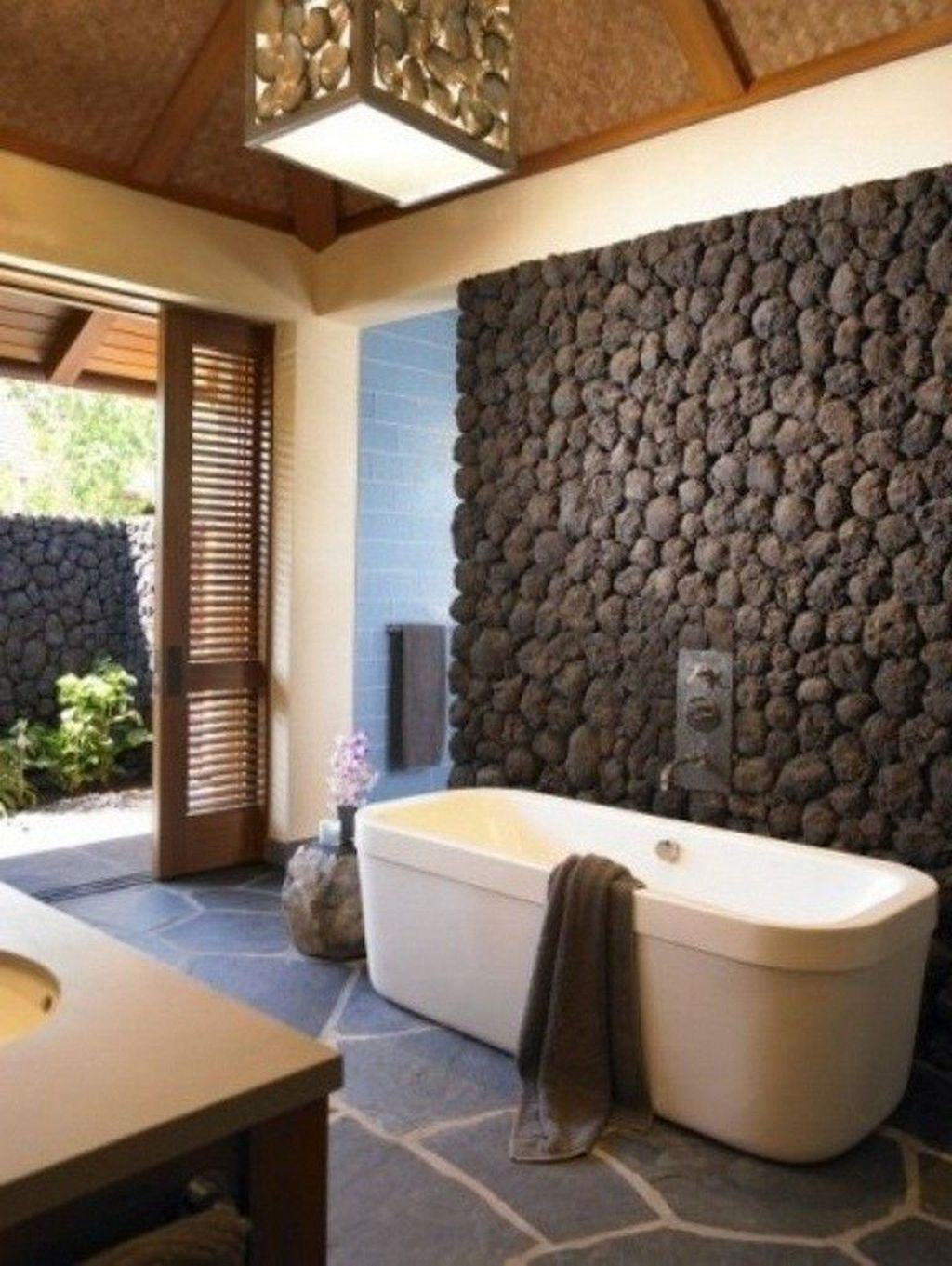 Stone Bathroom Designs 48 Simple Stone Bathroom Design Ideas Homishome