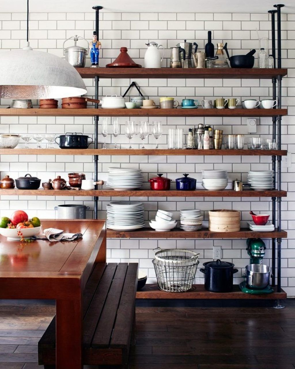 43 Wonderful Industrial Kitchen Shelf Design Ideas To Organize Your Kitchen Homishome
