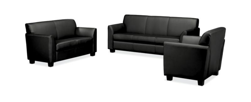 Sofa Set Action Circulate Club Chair Loveseat And Sofa Set Hvl87set Hon Office