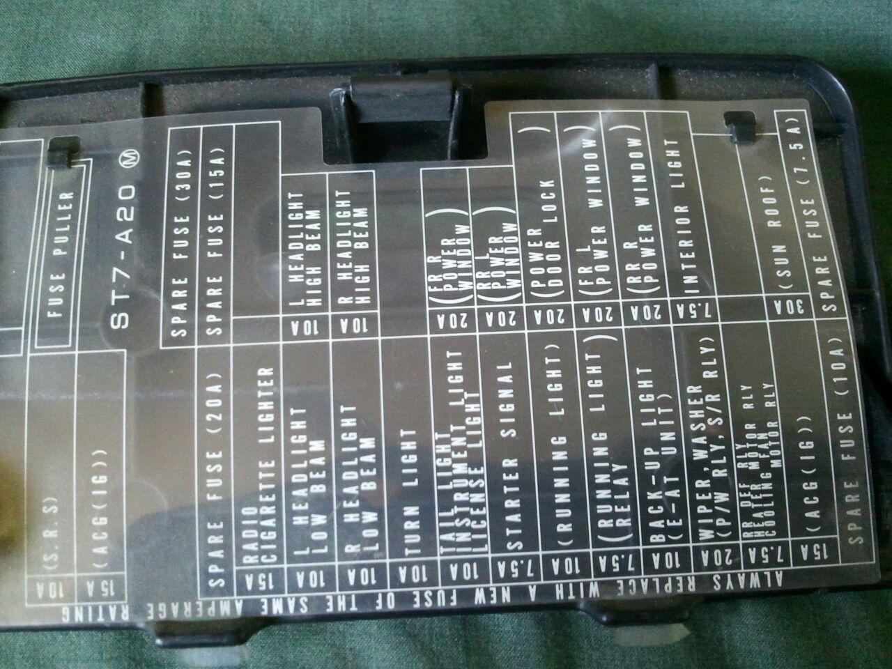 95 Acura Integra Fuse Box Diagram Auto Electrical Wiring Honda Del Sol 97