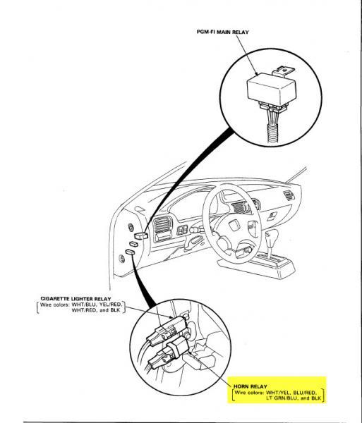 1990 honda accord horn Schaltplang