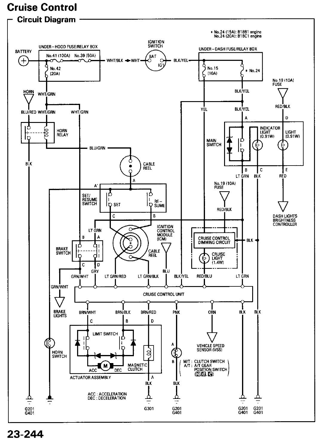 94 integra cruise control wiring diagram