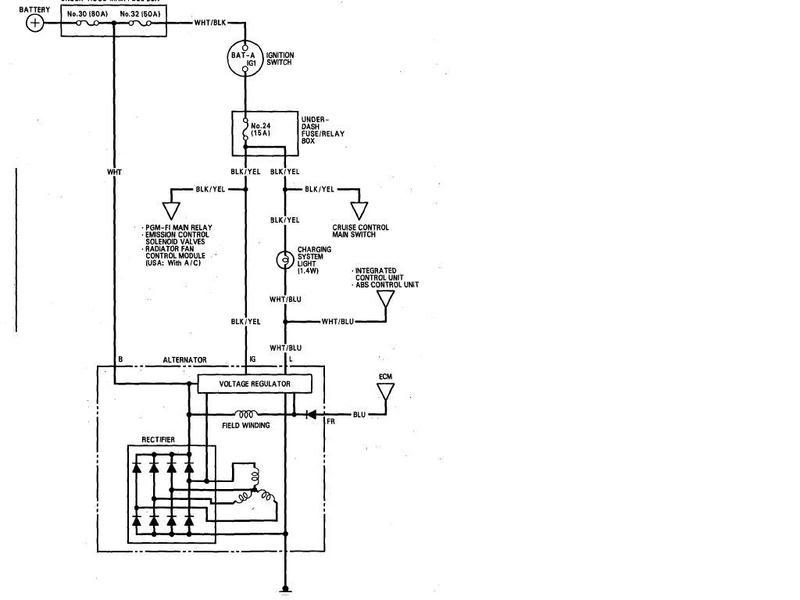 Honda Alternator Wiring Wiring Diagram