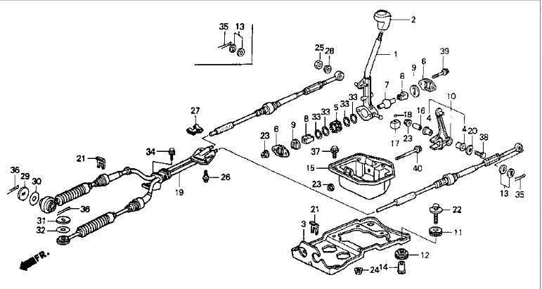 1980 honda accord shift linkage