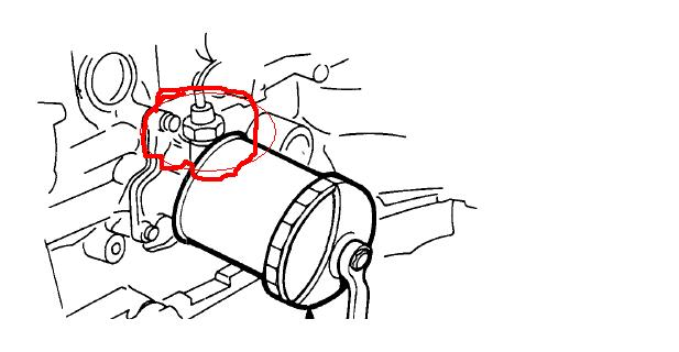 honda crv oil pressure switch location