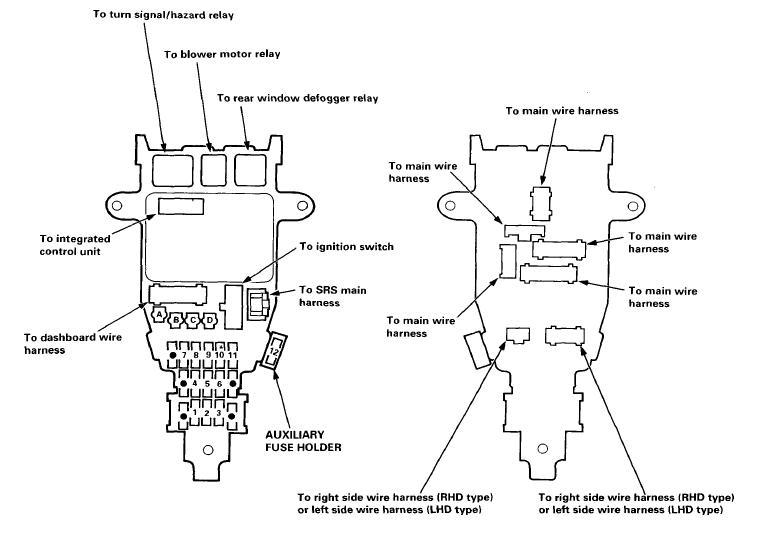 NEEDED!! 1994 Accord Fuse Diagram! - Honda-Tech - Honda Forum Discussion