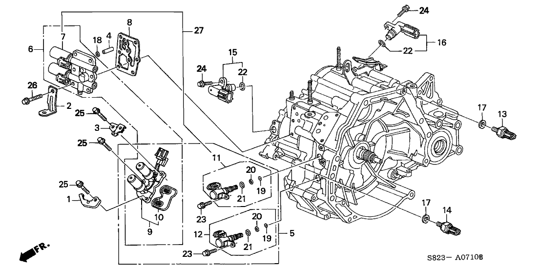 2001 honda civic transmission diagram