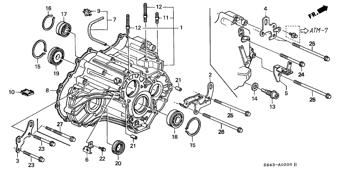 95 honda accord manual transmission diagram