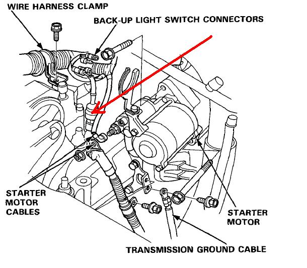 2003 honda accord backup lights wiring