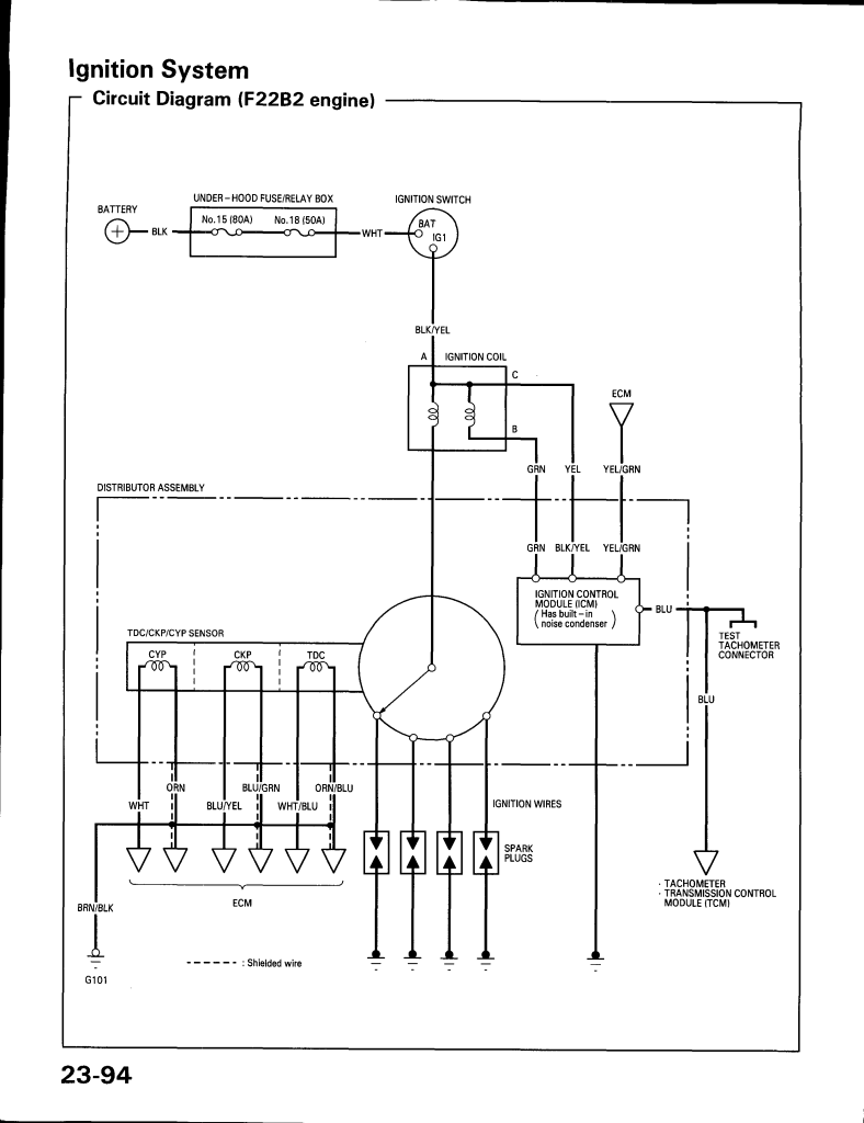 Wiring Diagram Honda Accord 1994