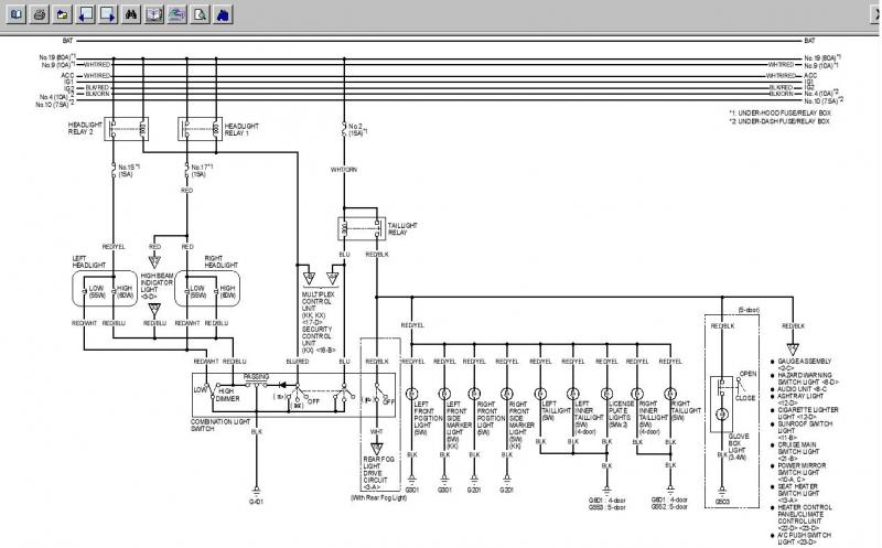 headlight wiring diagram honda civic