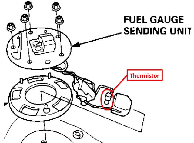 thermistor fuel sending ledningsdiagram