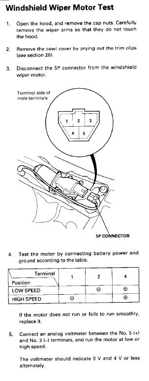 Wiper Motor Wiring Question - Honda-Tech - Honda Forum Discussion