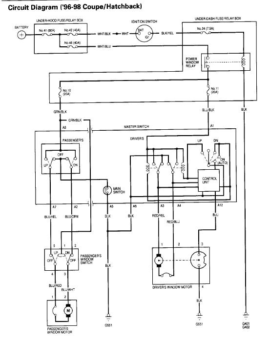EK Driver\u0027s Window Issues - No Power to Fuse 11 or Switch - Honda