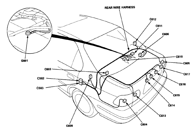 2000 honda civic rear speaker wire colors