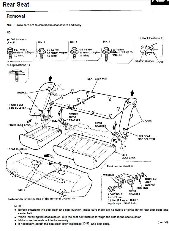Rear Speaker Polarity  removing rear seat - Honda-Tech - Honda