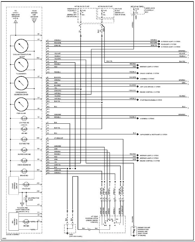 del Sol cluster wiring diagram/pinout - Honda-Tech - Honda Forum