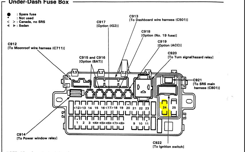 2001 honda civic fuse box diagram as well honda accord fuel pump relay
